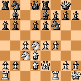Position after White's 12th move in Charbonneau-Serper